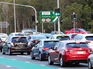 Long delays after crash on major Brisbane road