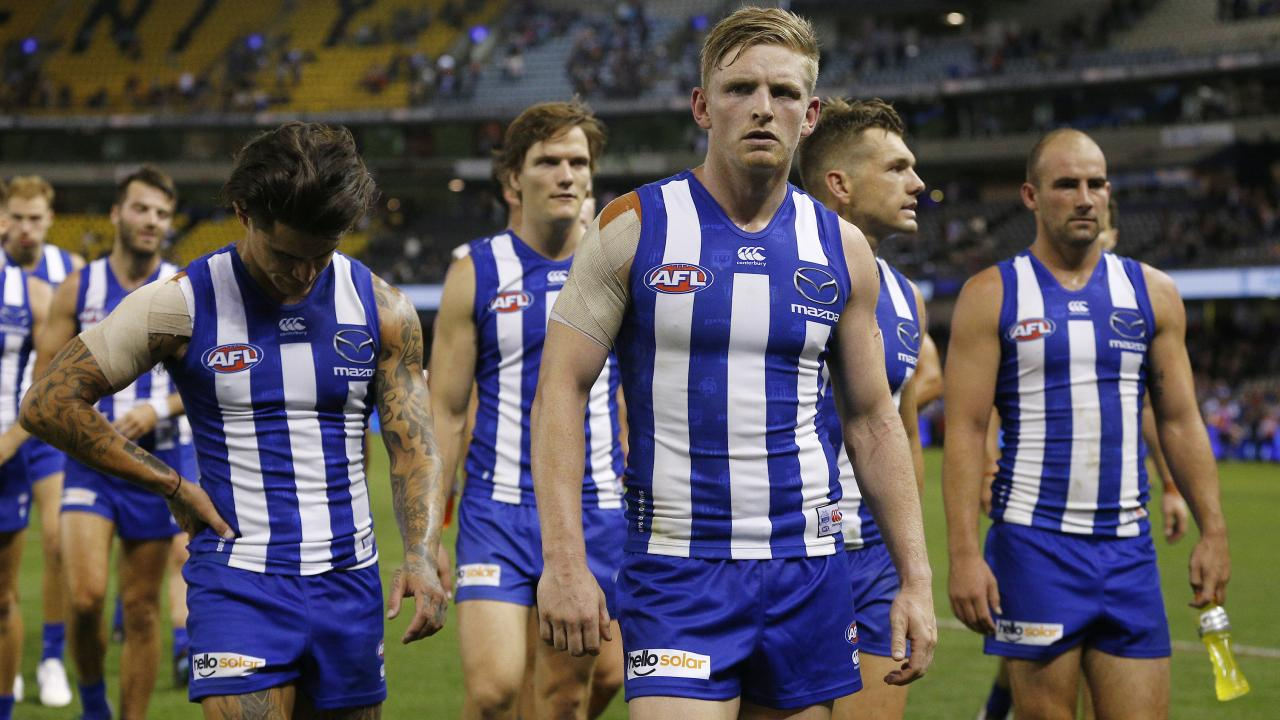 North Melbourne suffered a disappointing loss on Sunday. Picture: AAP Images