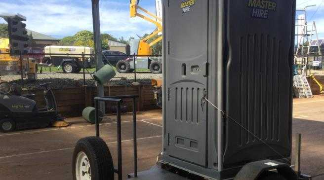 A portable toilet similar to this was stolen from a roadworks site near Toowoomba between December and January.