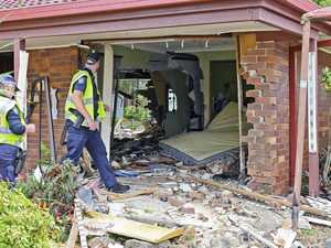 House destroyed in car smash