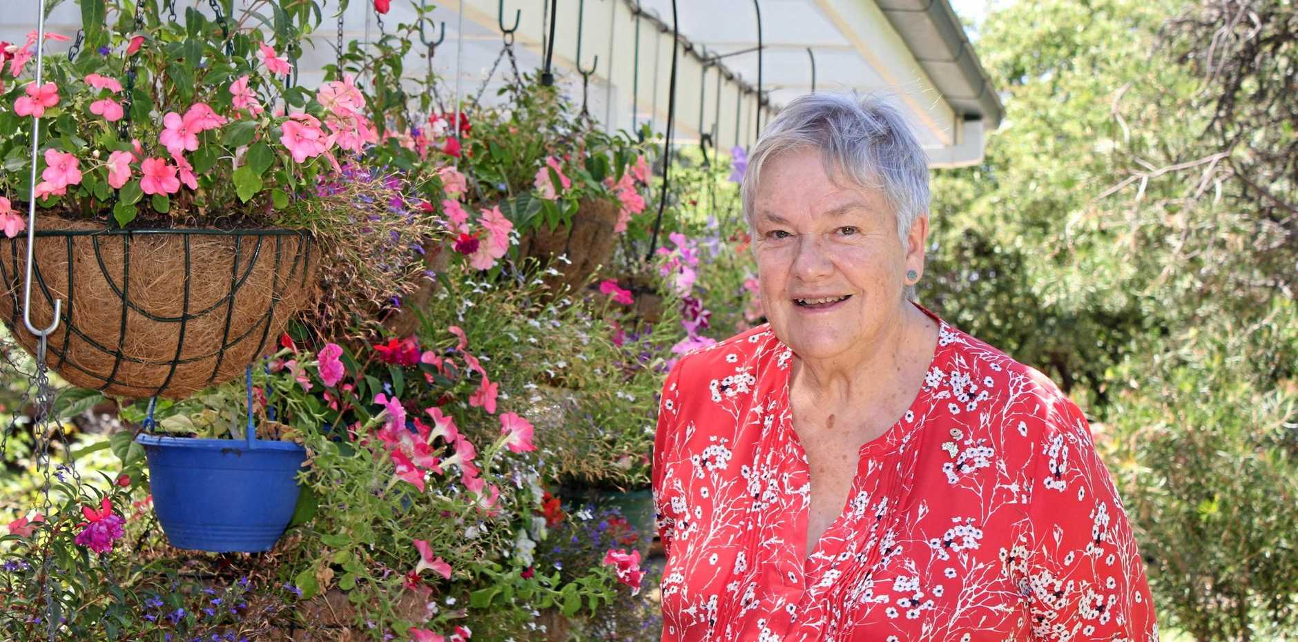 Senior Australian of the Year 2019, Dr Suzanne Packer AM in her garden in Canberra.