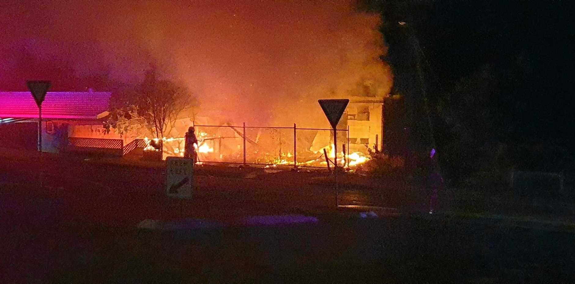 Shannon McKellar-McLoughlin took these photos of a house fire at East Ballina.