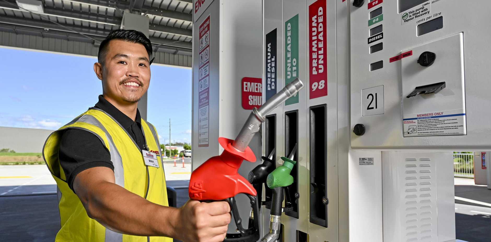 Costco Bundamba sneak peek. Minh Le petrol station manager.