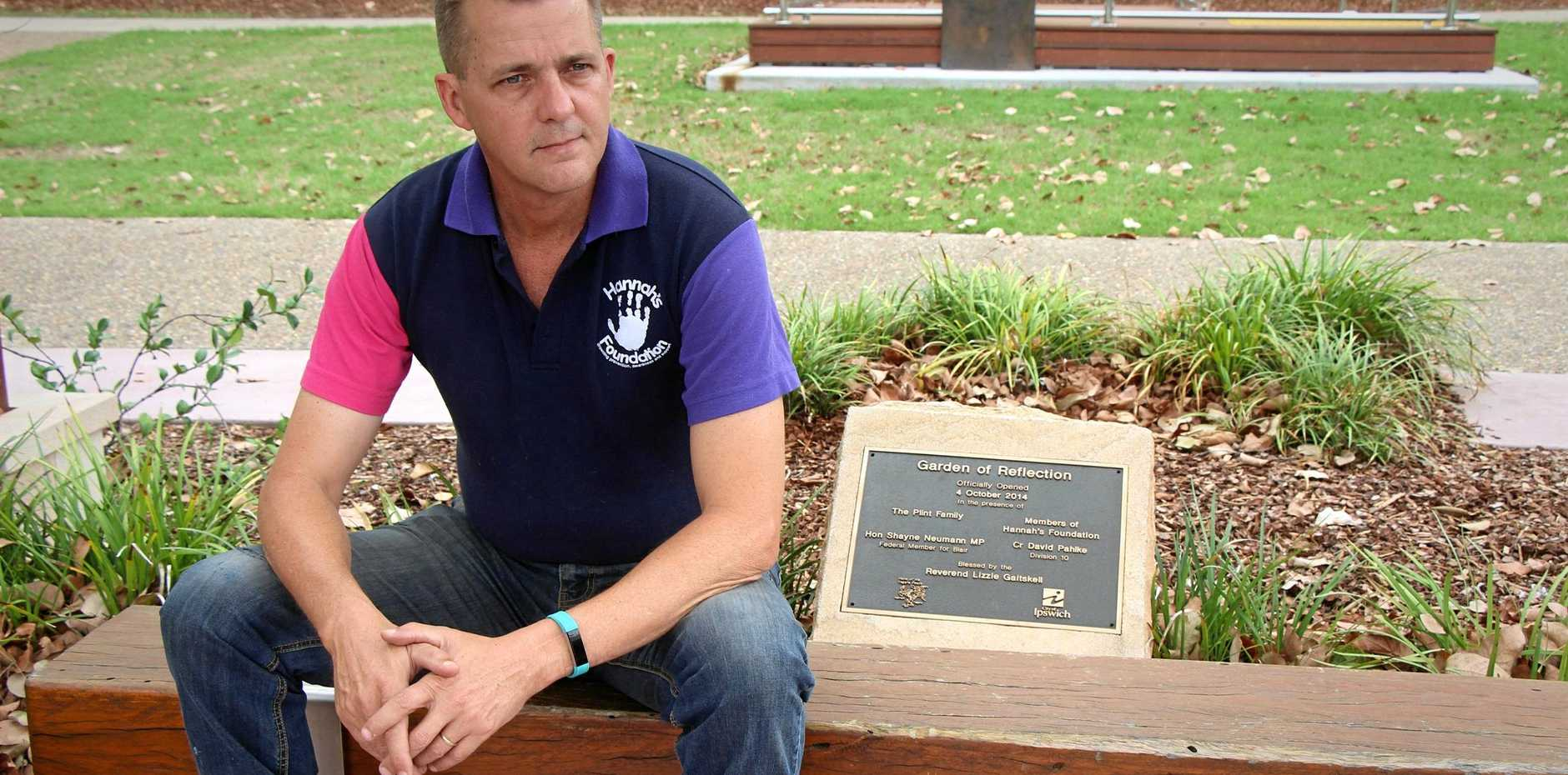 NEVER FORGOTTEN: Andrew Plint still grieves for his young daughter but is determined her death will not be in vain.