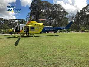 Gympie man in critical condition after three metre fall