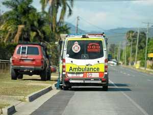 Bike crash victim taken to hospital