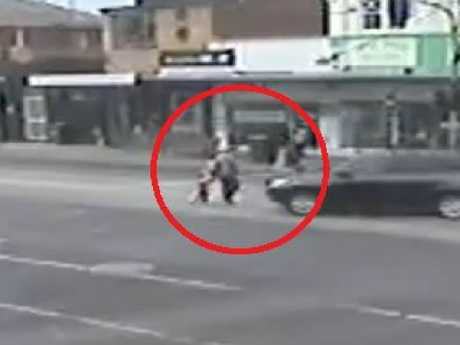 Hit-run footage from a collision at Glen Huntly. Picture: Victoria Police