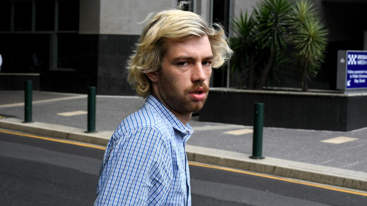 Accused train surfer's bizarre interview outside of court. Picture: John Gass/AAP