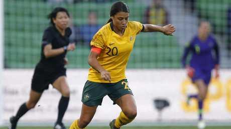 Craig Johnston is a big fan of Matildas captain Sam Kerr. Picture: AAP