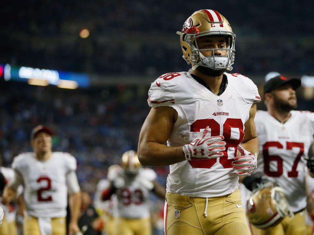 Jarryd Hayne, who previously played for the San Francisco 49ers in 2015. Picture: Getty