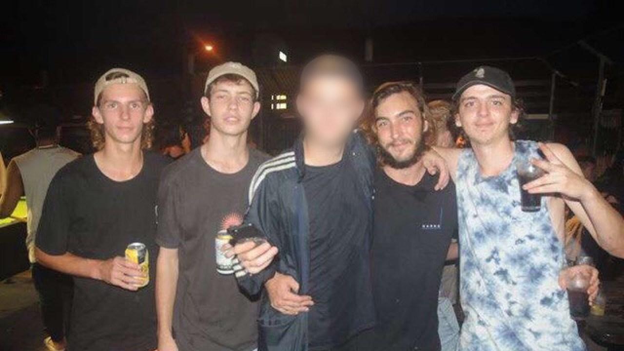 Tully car crash victims Ryan Beckman, Braydan Carter-Mathews, Tom Breen and Shawn Wood.