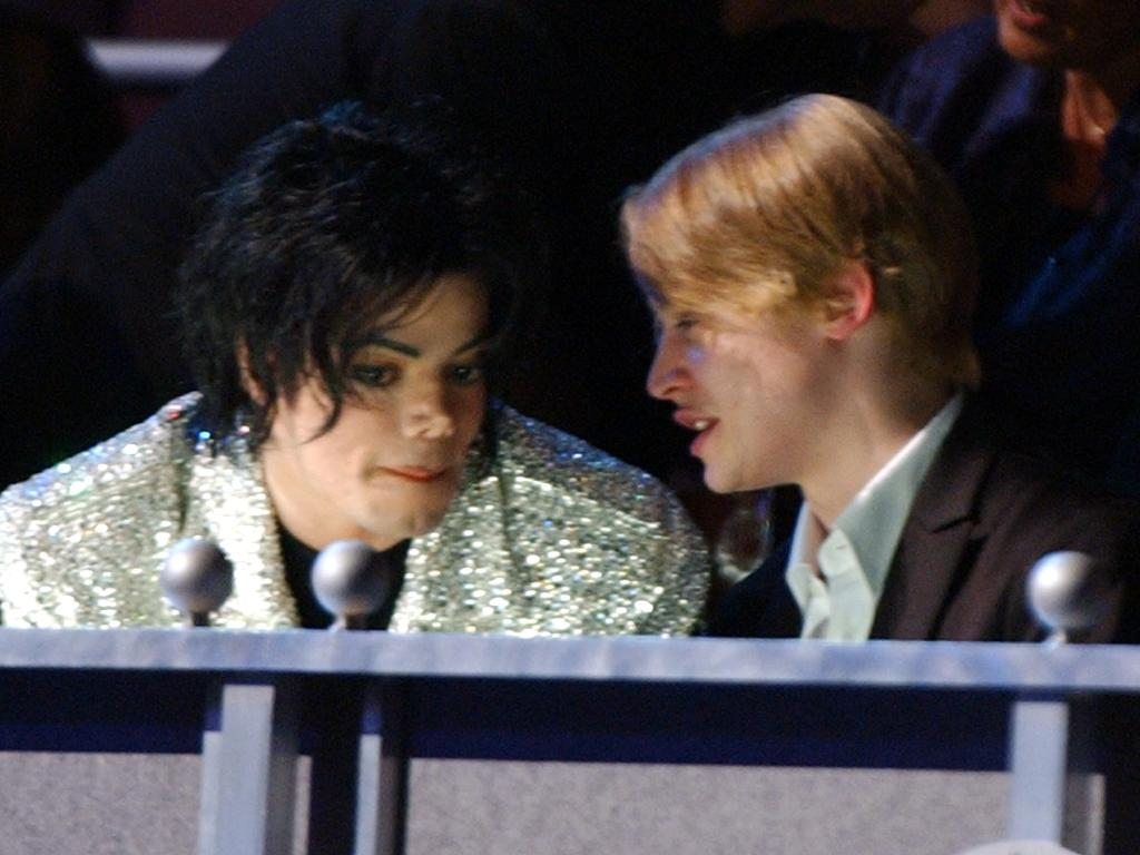 Michael Jackson and Macaulay Culkin at Michael Jackson's 30th Anniversary celebration in 2001. Picture: Kevin Kane/WireImage/Getty Images