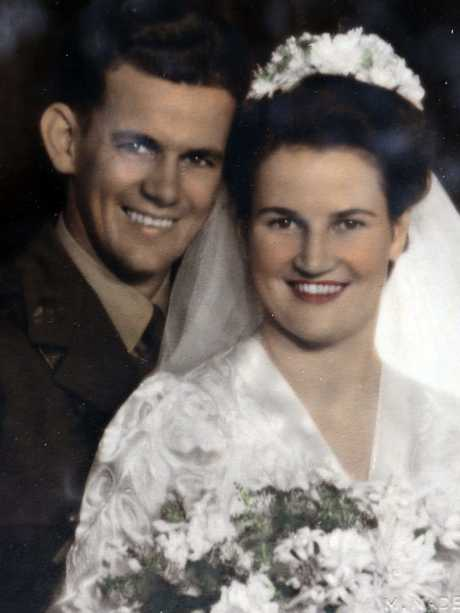 Daphne Dunne with her former husband Lieutenant Albert Chowne who was killed in Word War II.