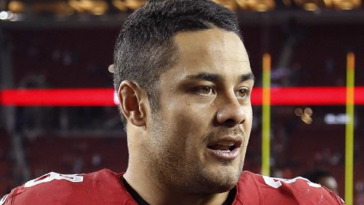 Former San Francisco 49ers running back Jarryd Hayne (38). Picture: AP