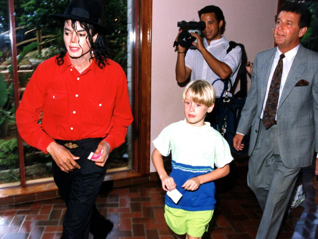 Jackson and Culkin together in the West Indies back in 1991. Picture: Ernie Mccreight/REX/Shutterstock