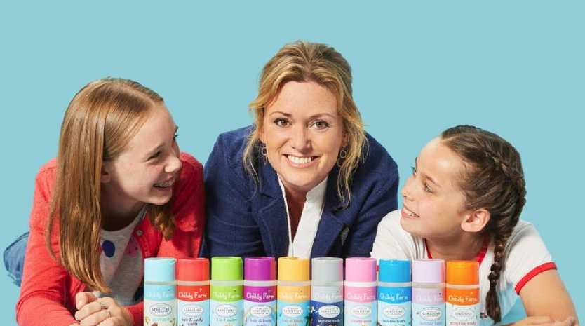 Childs Farm founder Joanna Jensen with her daughters.