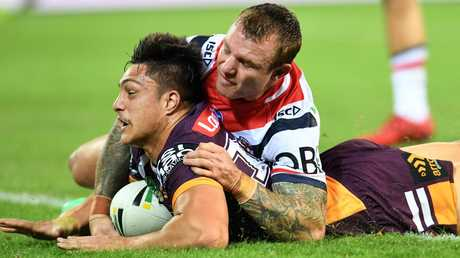 The Broncos rookie already has form against the Roosters. Image: AAP Image/Dan Peled