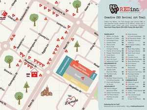 REDinc art trail in CBD
