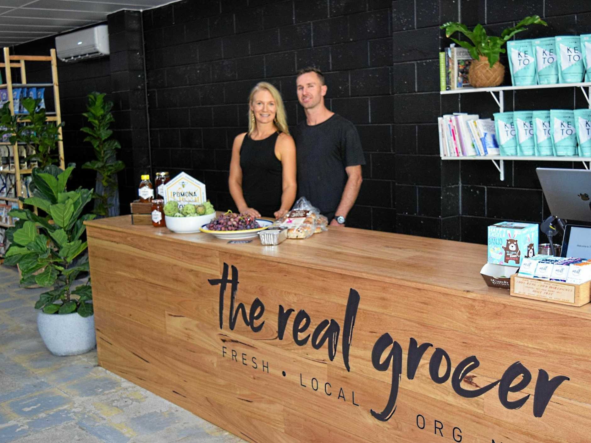 LOCAL PRODUCE: The new grocer stock local produce including spray free fruit and veg.