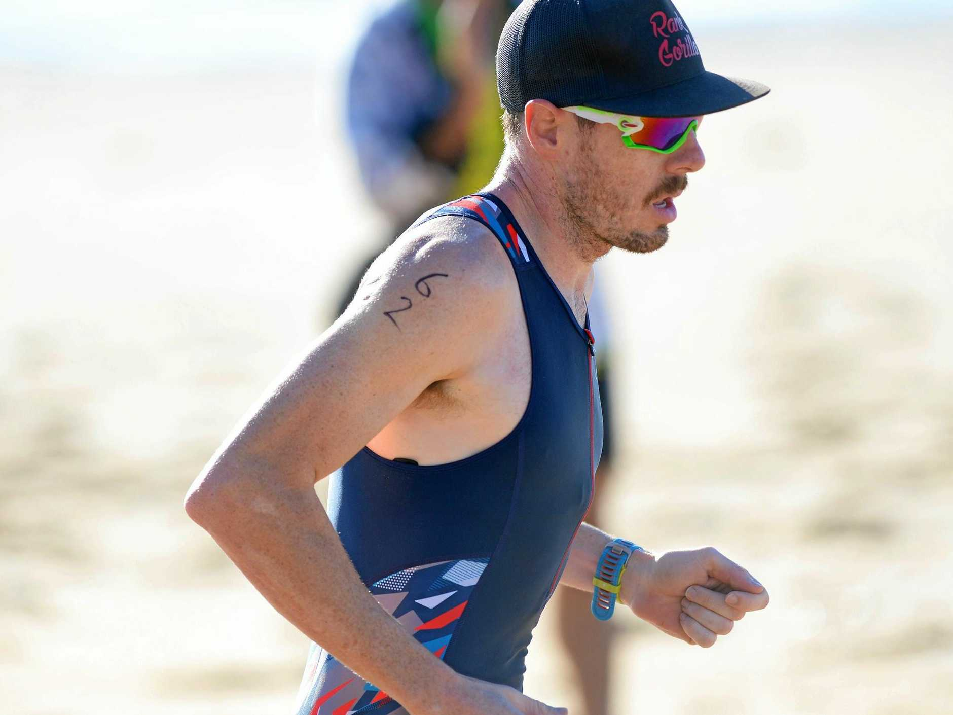 Rhys Jones competing in the Fitzroy Frogs Triathlon at Emu Park last year.