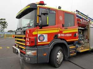 Fireys extingish garbage truck fire at Glen Eden