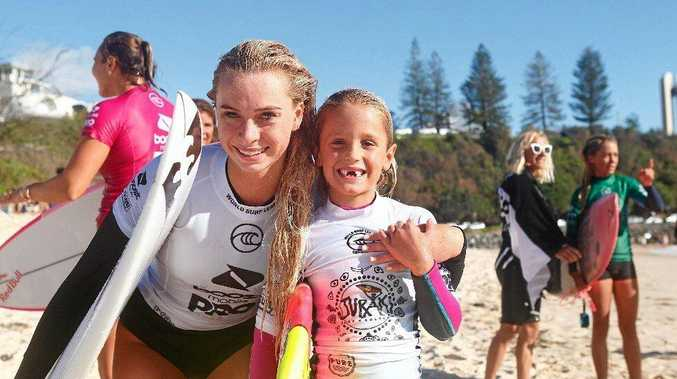 GALLERY: Leihani surfs alongside her heroes