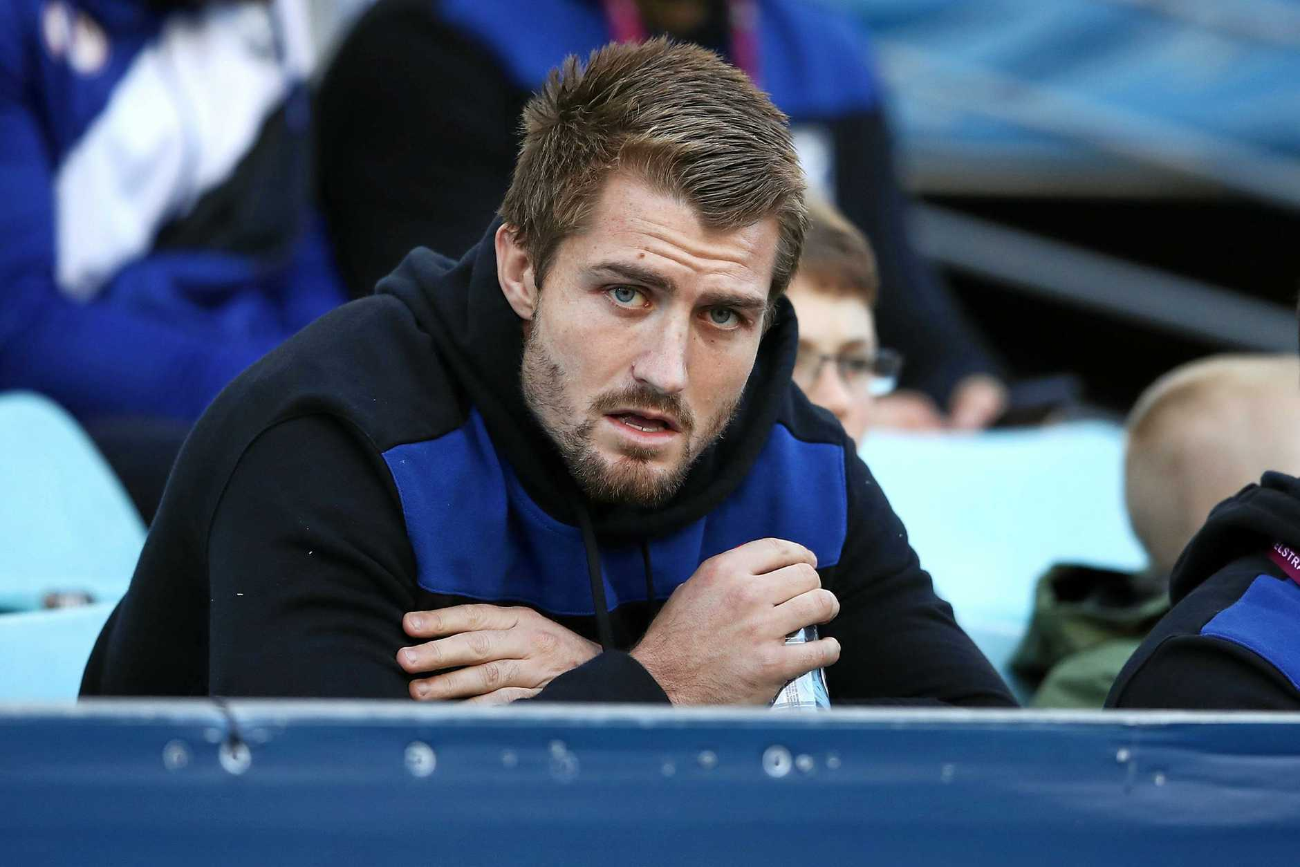 SYDNEY, AUSTRALIA - JUNE 11: Injured Bulldogs player Kieran Foran watches on from the grandstand during the round 14 NRL match between the Canterbury Bulldogs and the St George Illawarra Dragons at ANZ Stadium on June 11, 2018 in Sydney, Australia. (Photo by Mark Kolbe/Getty Images)