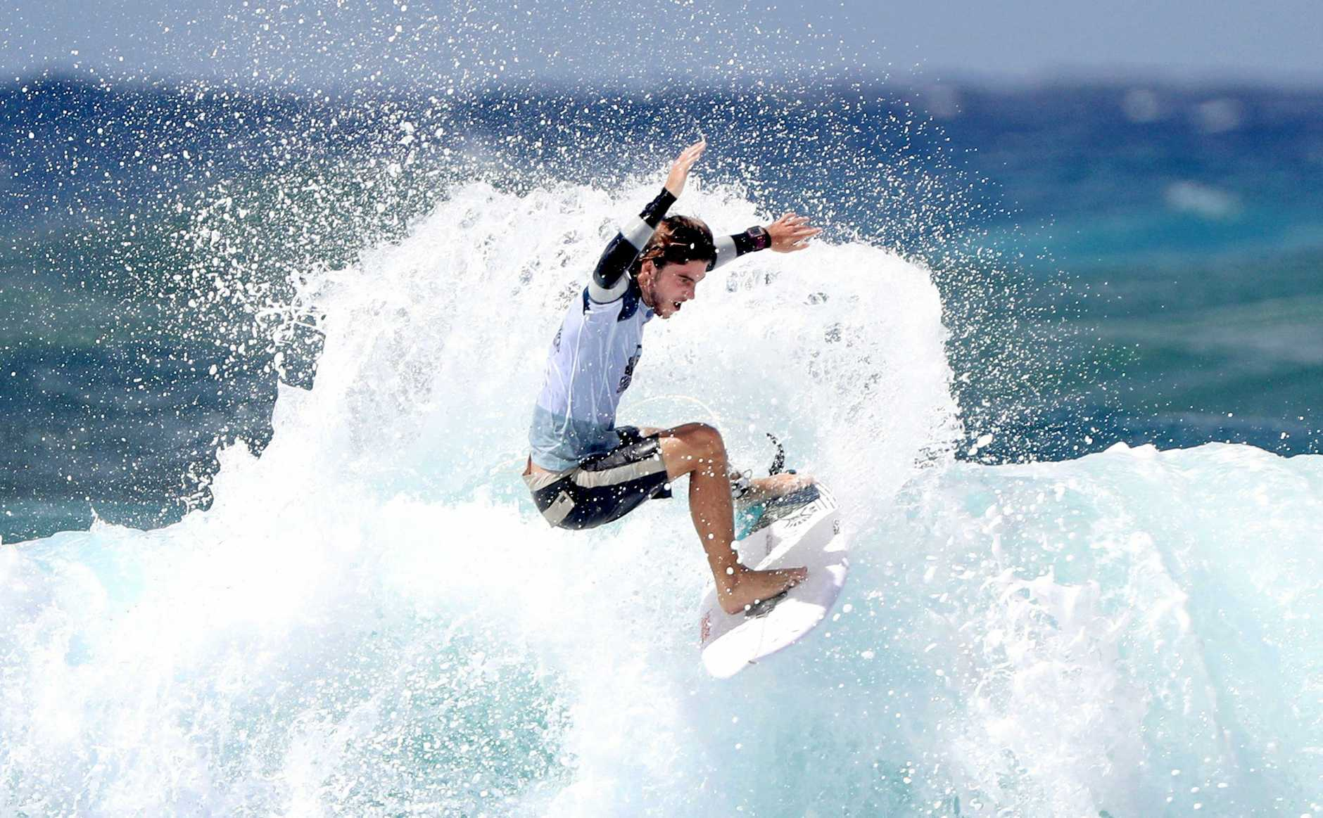 IN ACTION: Reef Heazlewood at the Quiksilver Pro.
