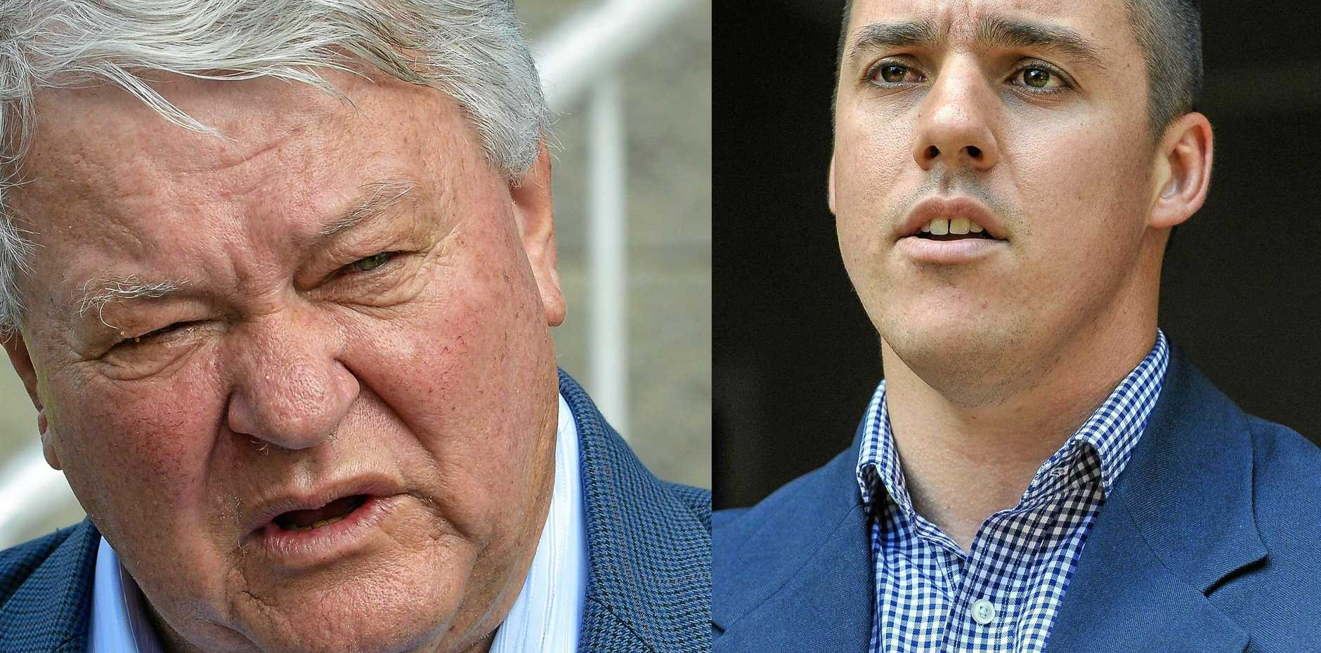 HEAD TO HEAD: Flynn MP Ken O'Dowd and Labor candidate Zac Beers.