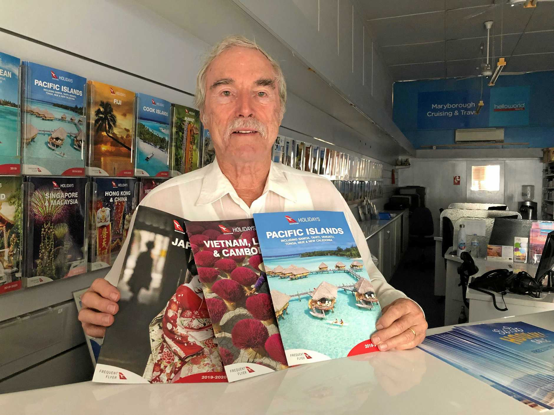 EXPLORE: Merv Hastings from Maryborough's Cruising and Travel with some of the many travel options available.