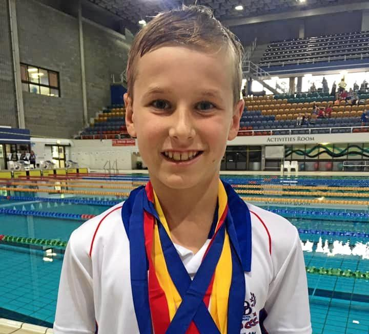CHAMPION EFFORT: St Mary's College student Lachlan Parker was a star at the State Championships, taking home five medals.