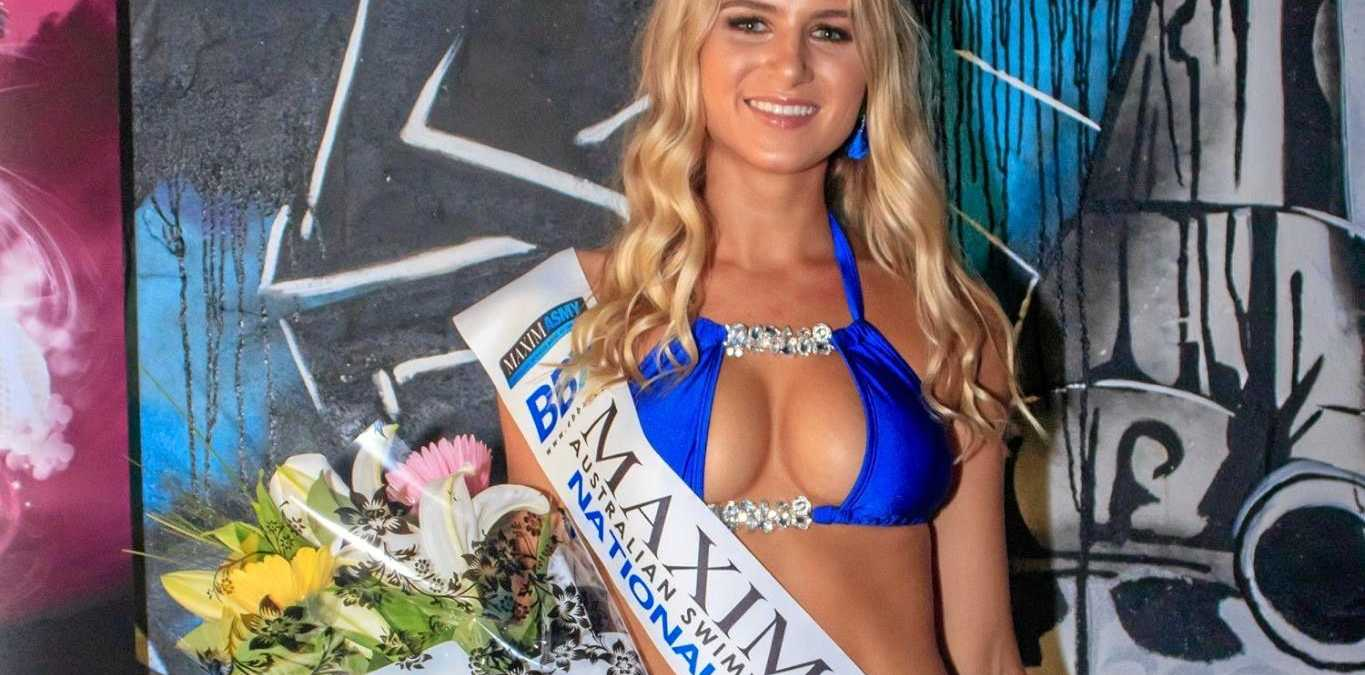 Clare Nixon won the regional final of Maxim Australian Swimwear model of the year, and will travel to the Gold Coast next month for the national finals.