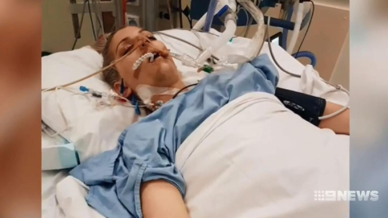 Her family was told she wouldn't survive the shocking crash that left her with a broken vertebrae and bleeding on the brain.