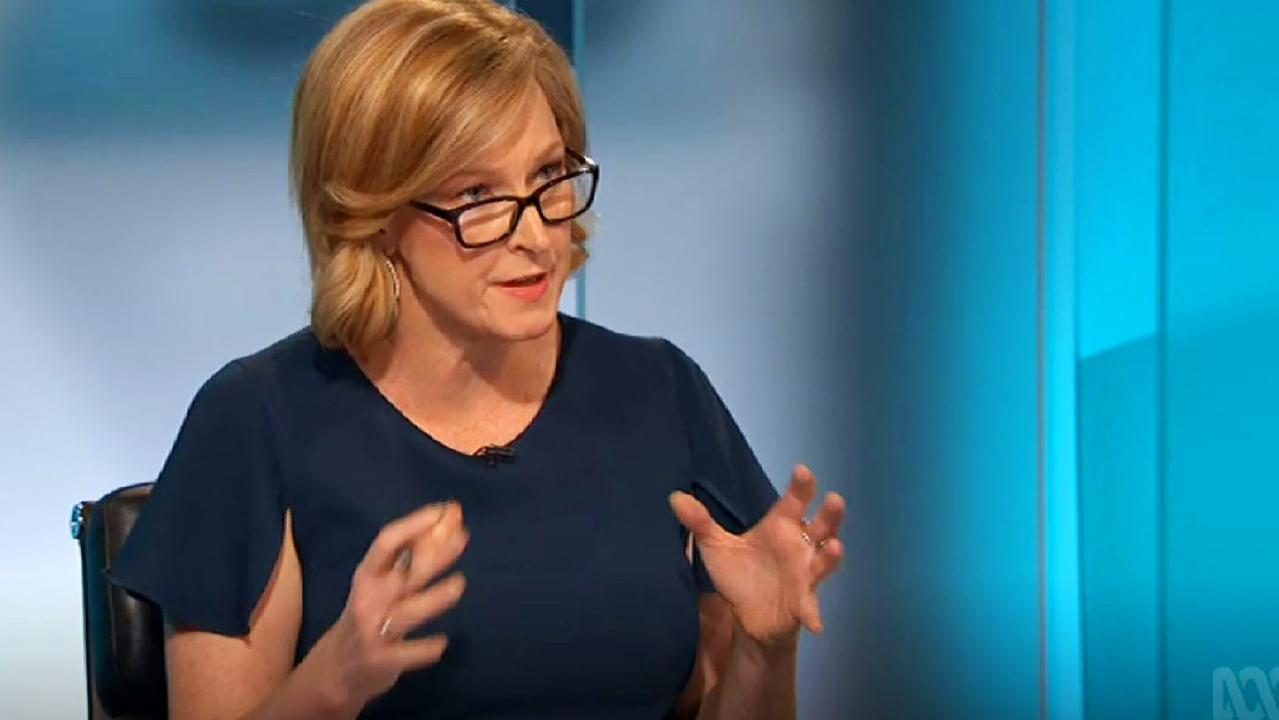 "on the ABC's 7.30 Leigh Sales asked if Scott Morrison had ""failed to deliver"" for the Australian economy. Picture: ABC."