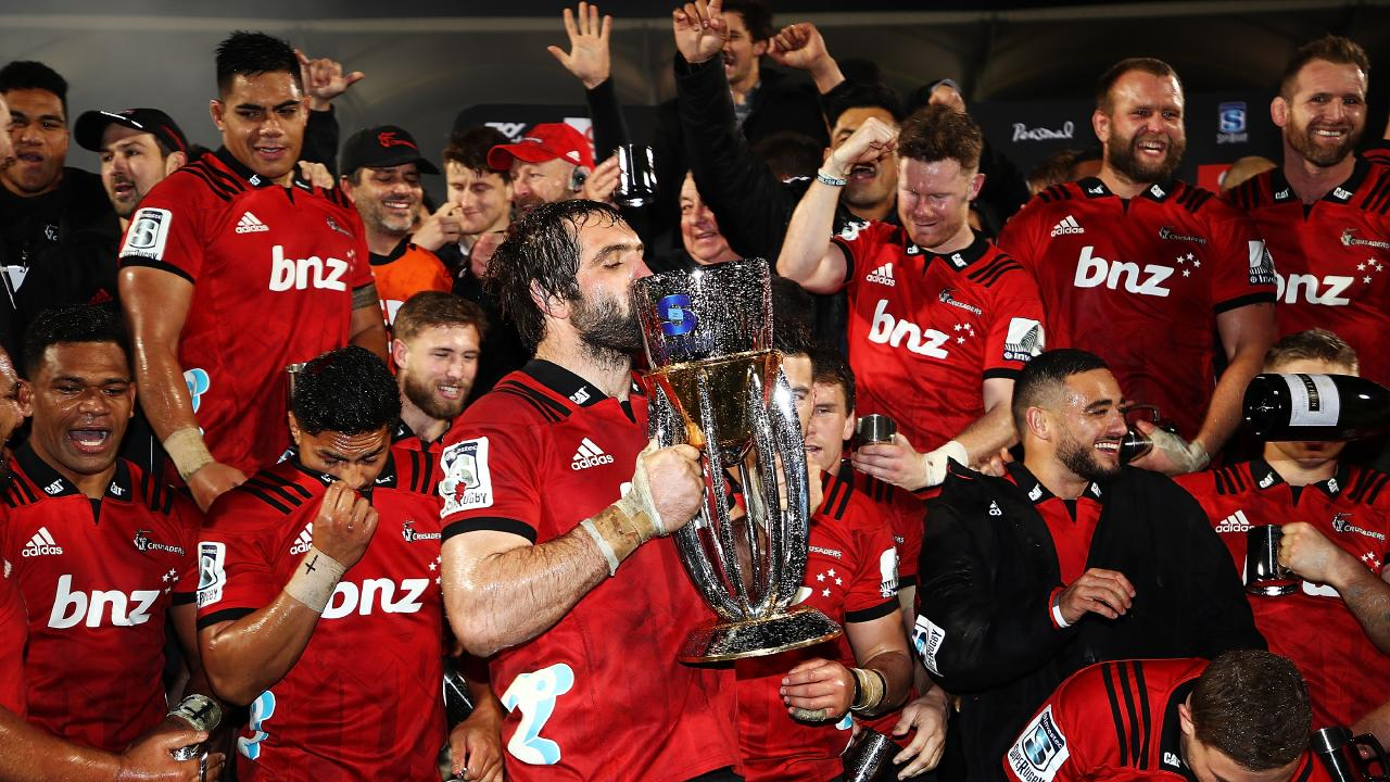 The Crusaders celebrated their ninth Super Rugby title last year. Picture: Getty