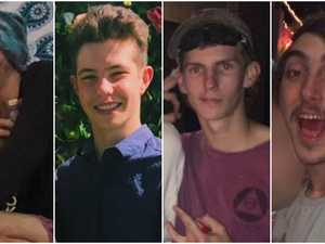 Four best mates killed in horror crash