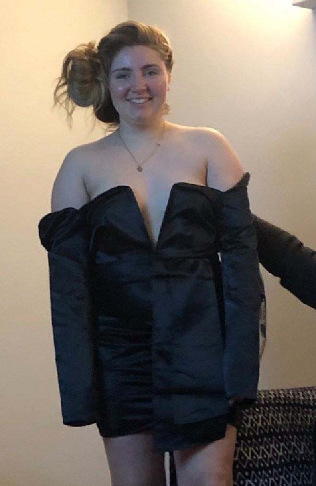 Niamh ODonnell, 20 was horrified after her dress left her looking like she'd worn a 'bin bag'.