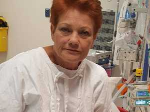 Pauline Hanson rushed to hospital