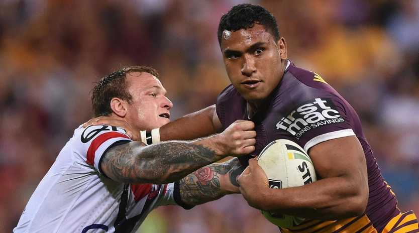 Tevita Pangai Jr has joked with Broncos CEO Paul White about joining the Roosters.