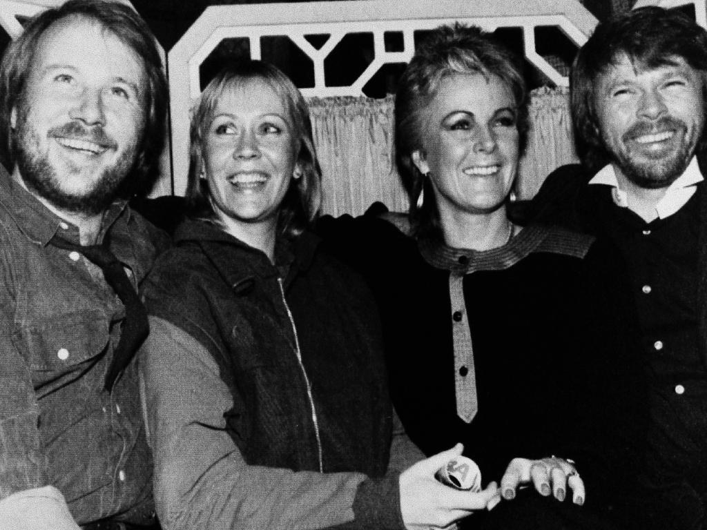 ABBA, pictured in London in 1982, the year they split up. Picture: AP