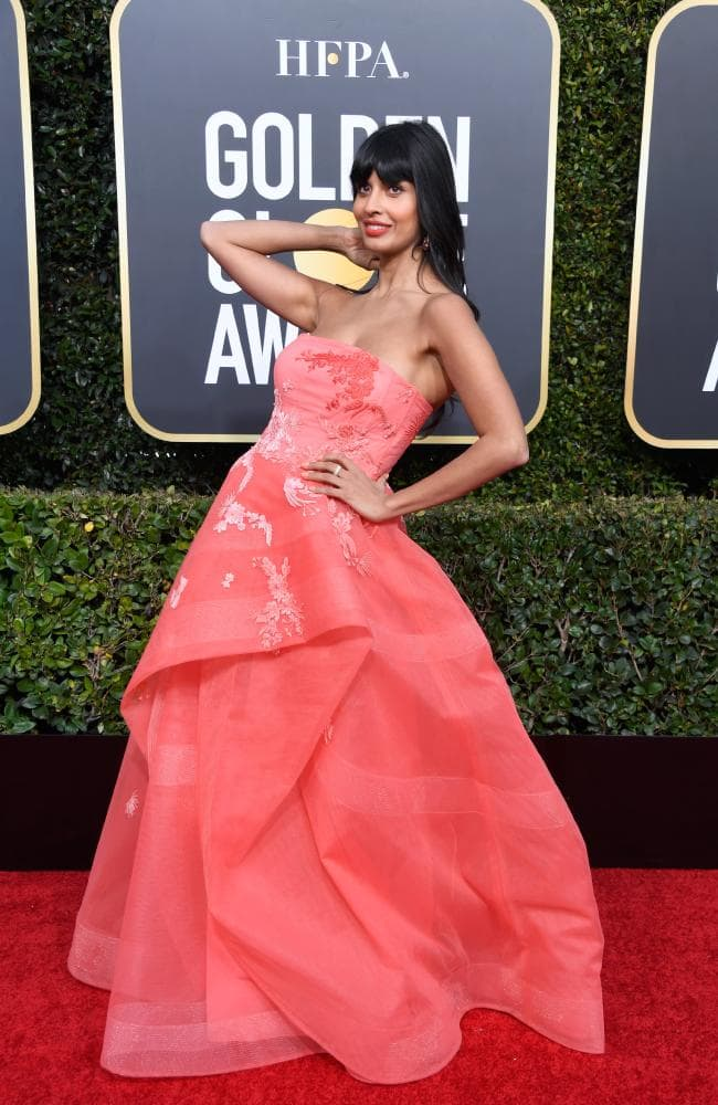 Jameela Jamil attends the 76th Annual Golden Globe Awards.