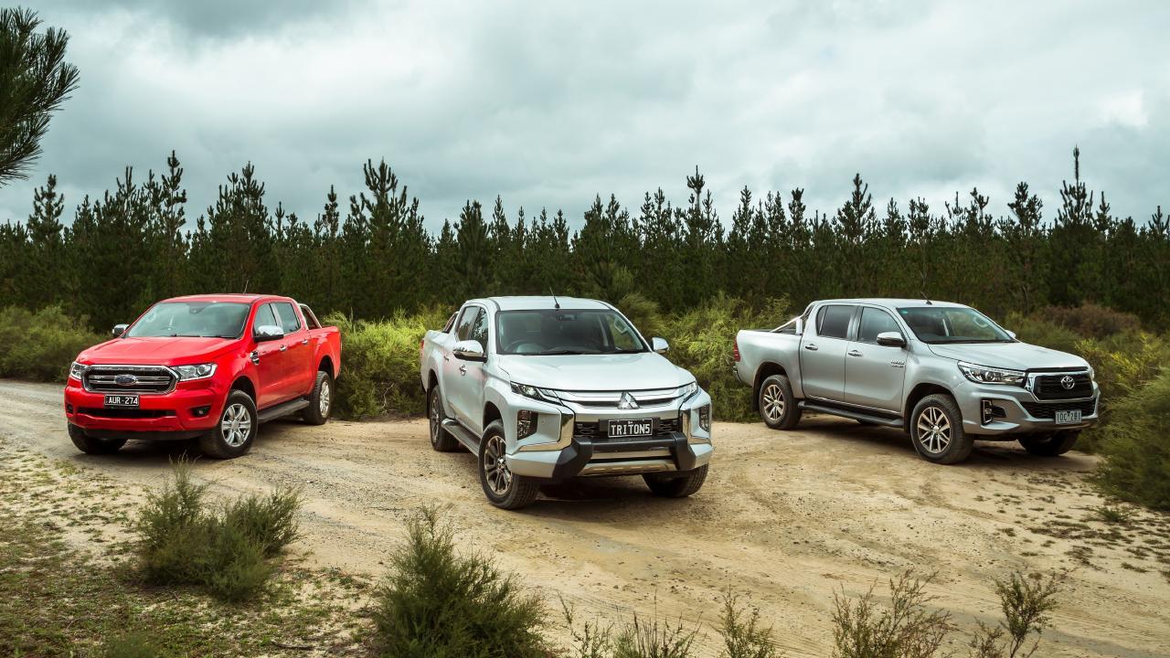 Dual-cab utes represent the three highest-selling cars in Australia.