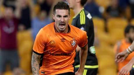 Jamie Maclaren scored 40 goals for the Roar. Picture: Darren England.