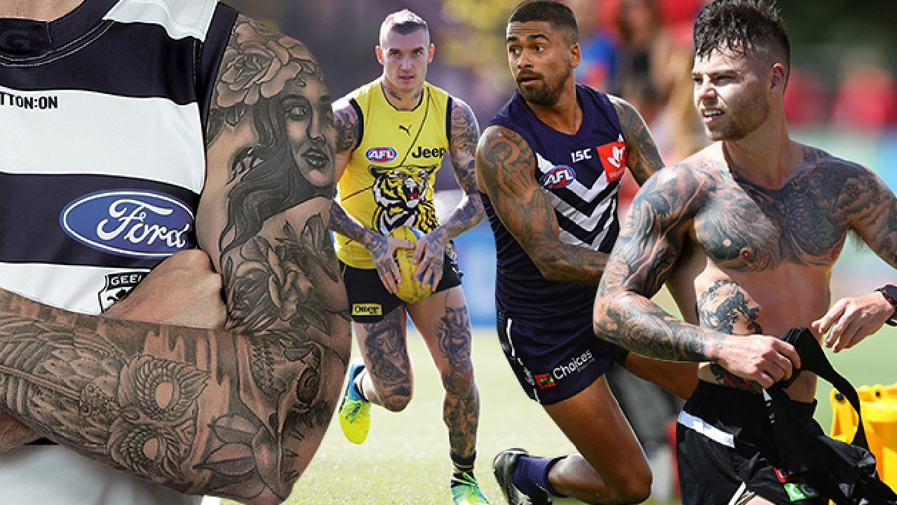 AFL players are sporting more ink than ever before in 2019.