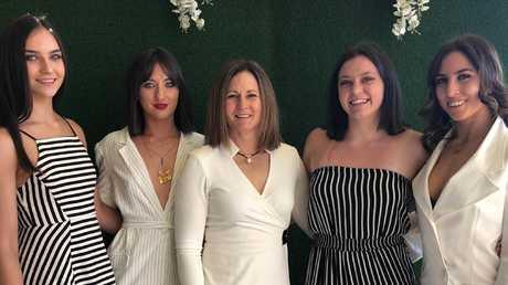 Natalie Joyce pictured with her daughters (L-R) Odette, Bridgett, Caroline and Julia.