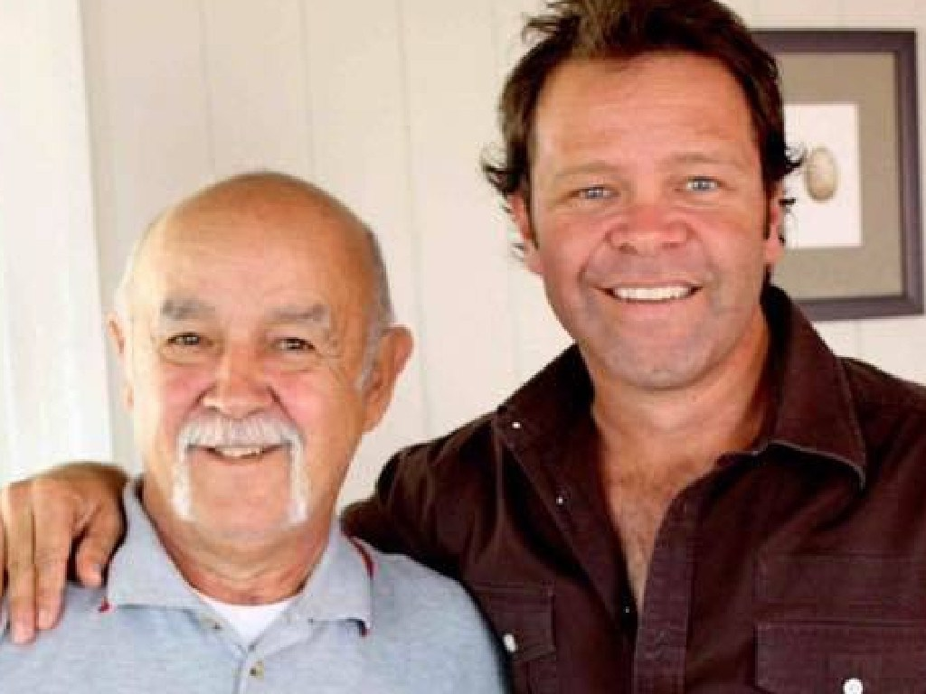 Troy Cassar-Daley and his late father Tony.