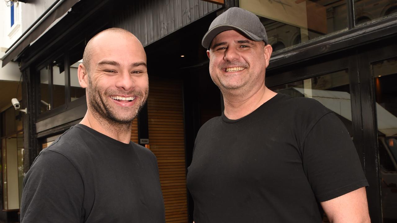 Outside his Melbourne restaurant with owner Matt Yazbek. Image: Chris Eastman