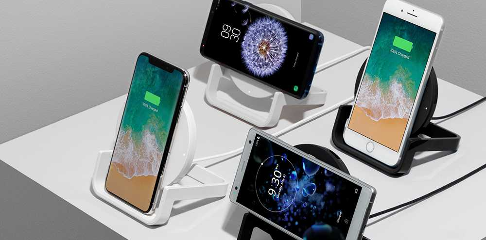 Some of Belkin's range of wireless chargers.