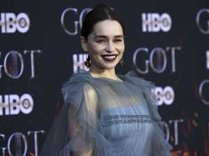 Emilia Clarke stuns at GoT premiere