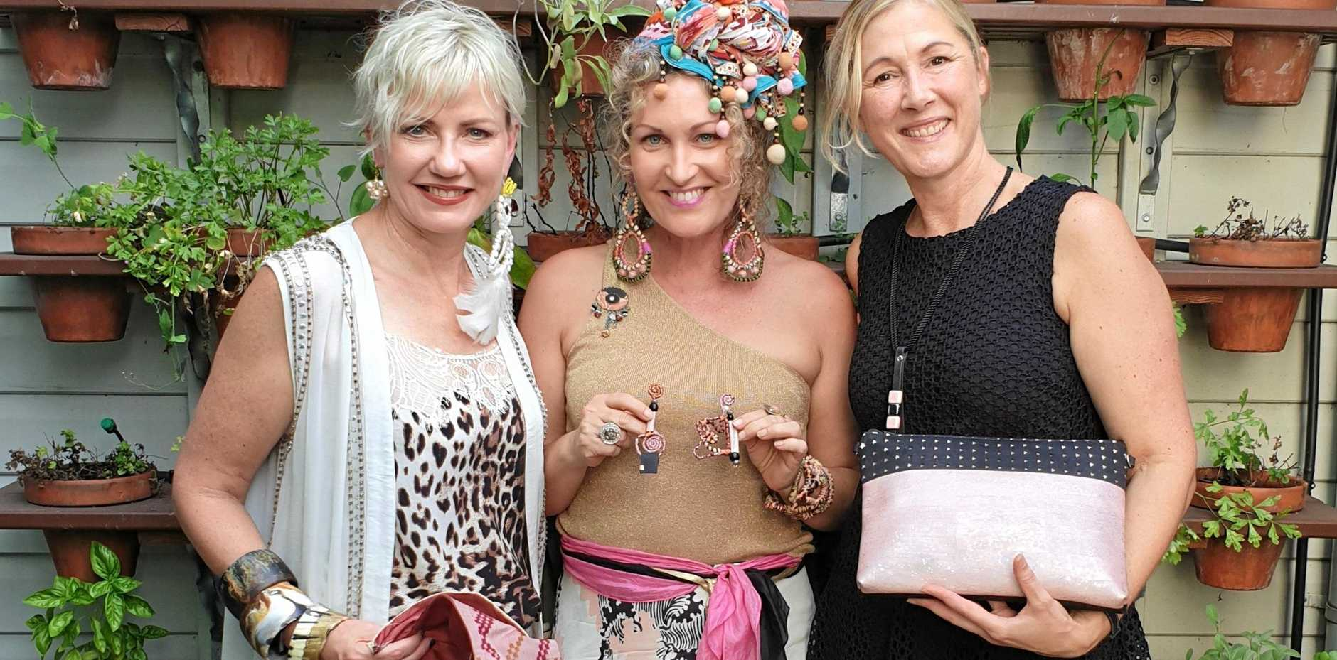 SLOW FASHION: Suzanne Dekyvere, Heidi Lesleighter and Michelle Tait have collaborated to make the Kazari Eco Collection.